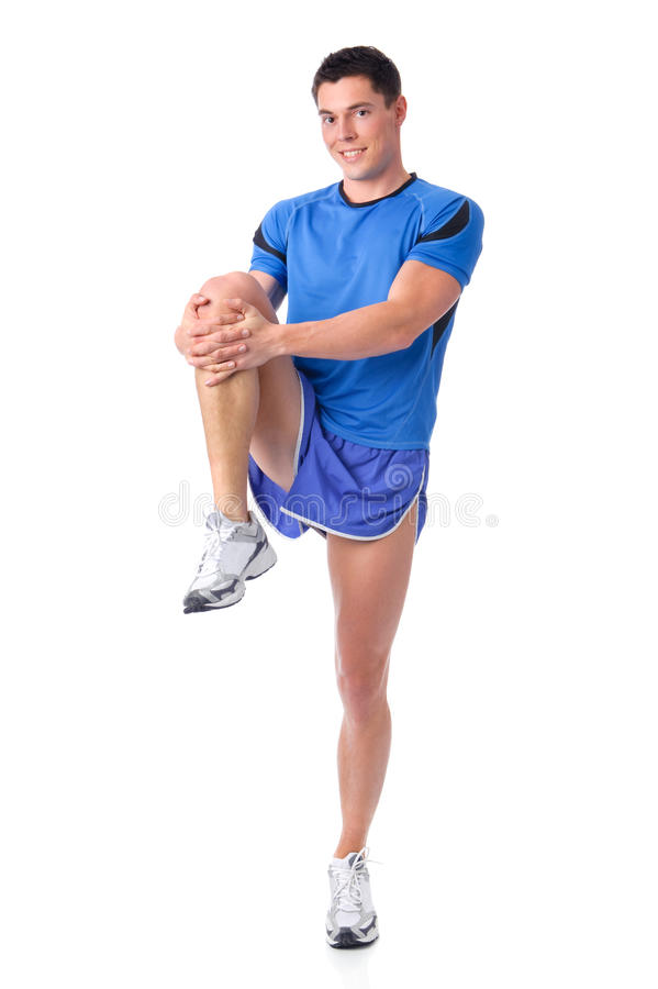 Stretching royalty free stock photo