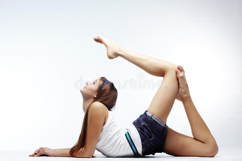 Stretching stock photography