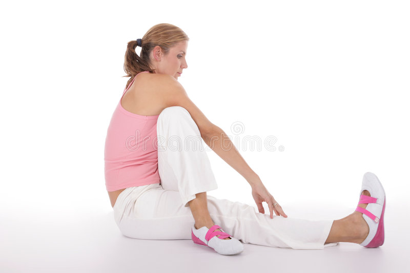 Download Stretching stock image. Image of interior, girl, exercising - 3805351