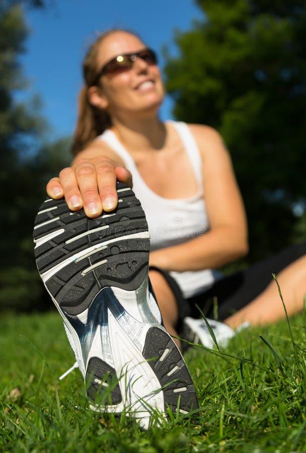 stretching zdjęcie royalty free