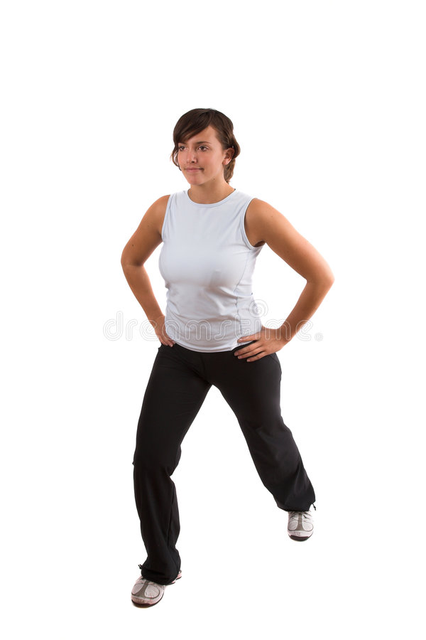 Download Stretching calf muscles stock photo. Image of attractive - 1401192