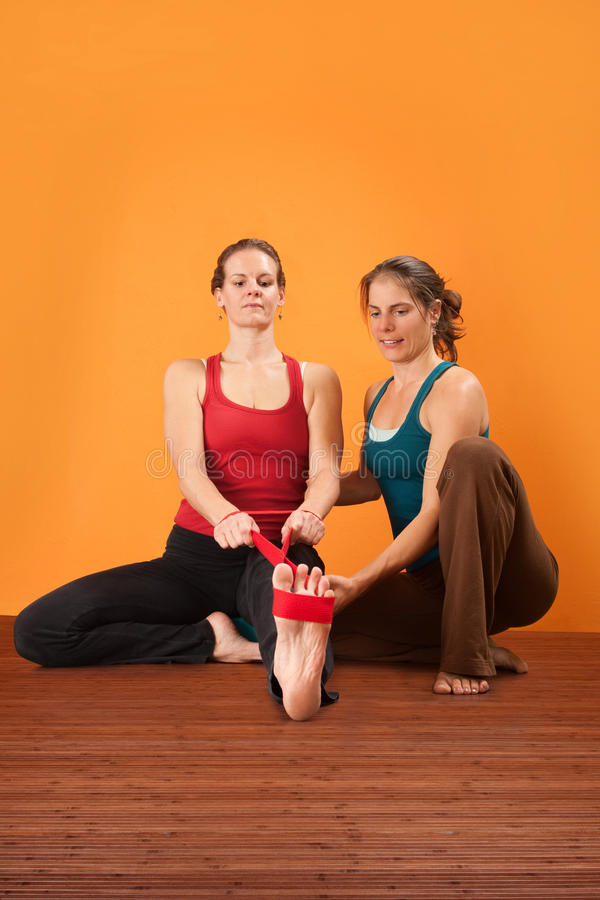 Free Stretching Exercise Royalty Free Stock Image - 24358546