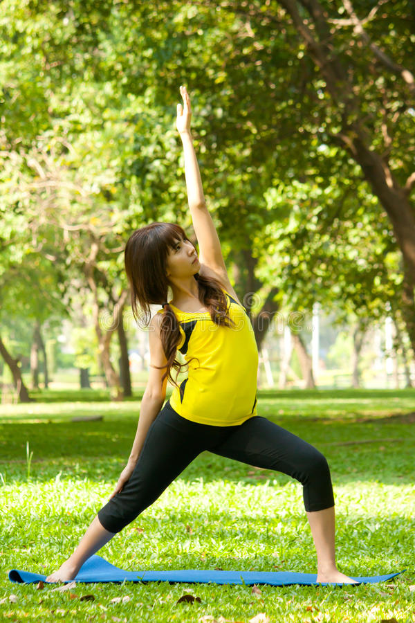 Download Stretching Exercise stock photo. Image of girl, hair - 26754392