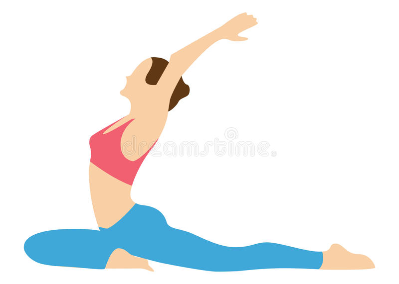 Stretching exercises. royalty free stock photography