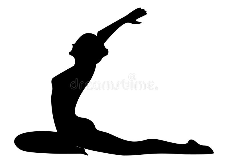 Stretching exercises. royalty free stock photos