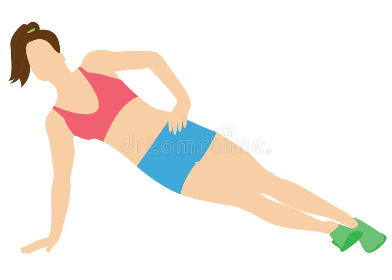Stretching exercises. royalty free stock image