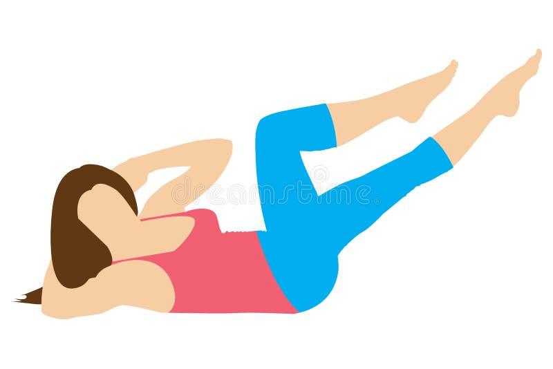 Stretching exercises. stock photo