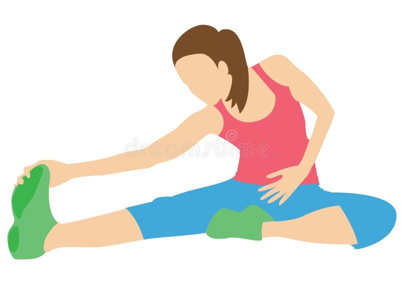 Stretching exercises. royalty free stock photo