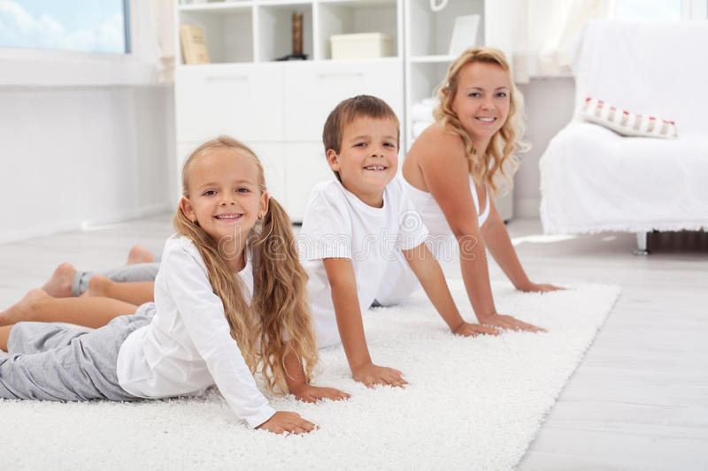 Download Stretching Fun With Mom Stock Photography - Image: 20770242