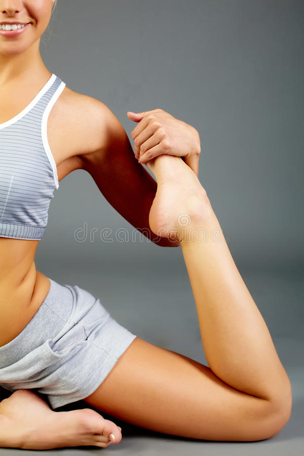 Download Stretching leg stock photo. Image of physical, positive - 22465522
