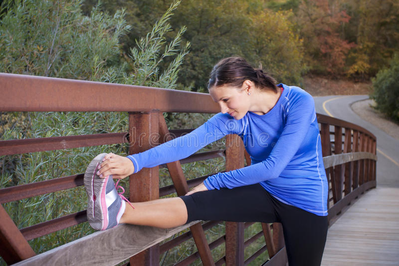 Stretching Before A Morning Jog Stock Images