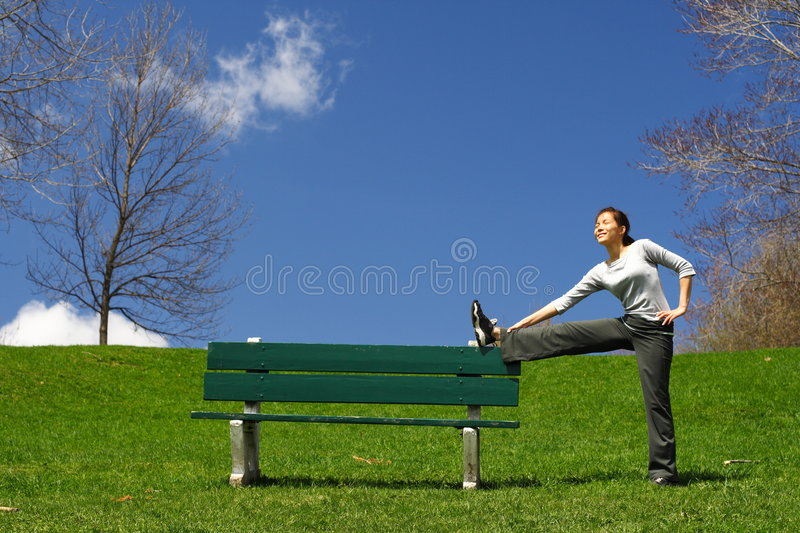 Stretching out stock photos