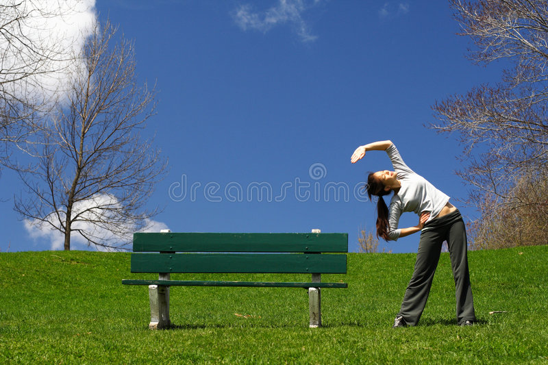 Download Stretching out stock photo. Image of healthy, park, leisure - 9338056