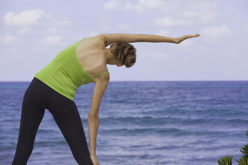 Download Stretching outdoor stock photo. Image of ocean, workout - 11134434