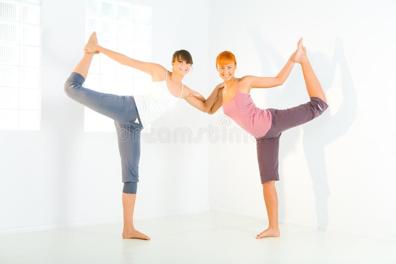 Stretching women royalty free stock photos
