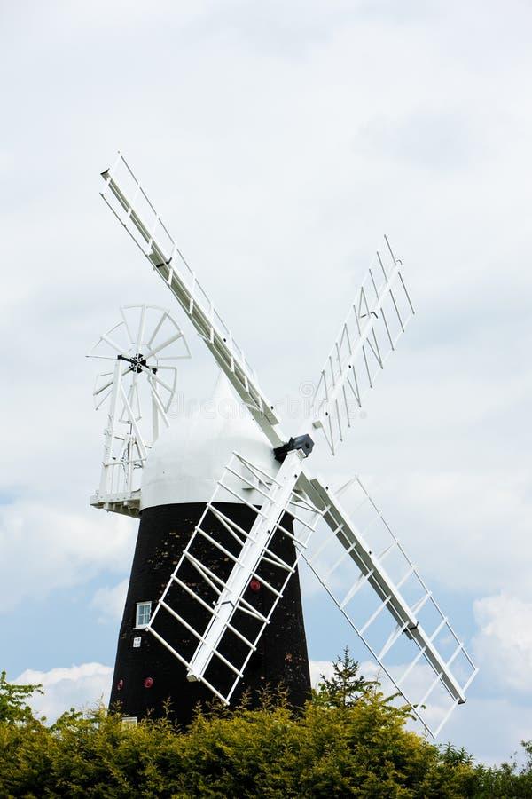 Stretham Windmill, East Anglia, England. Outdoors, outside, exteriors, europe, western, great, britain, united, kingdom, uk, cambridgeshire, county stock photo