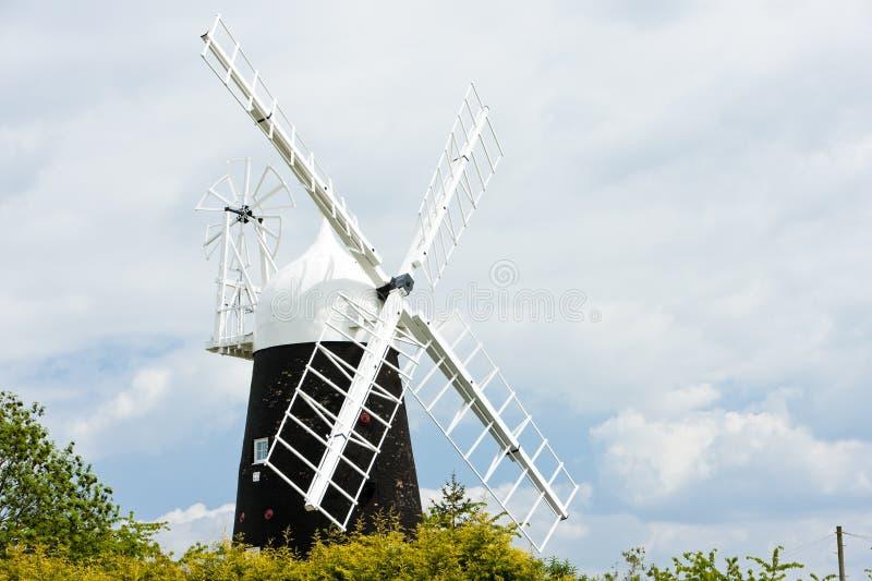 Stretham Windmill, East Anglia, England. Outdoors, outside, exteriors, europe, western, great, britain, united, kingdom, uk, cambridgeshire, county royalty free stock photo