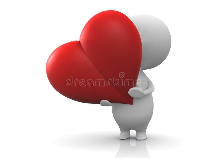 Stretta della persona un cuore rosso royalty illustrazione gratis
