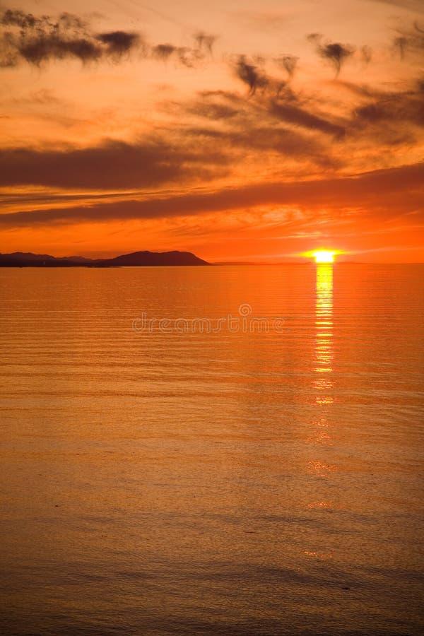 Stretto di Juan de Fuca Sunset fotografia stock libera da diritti