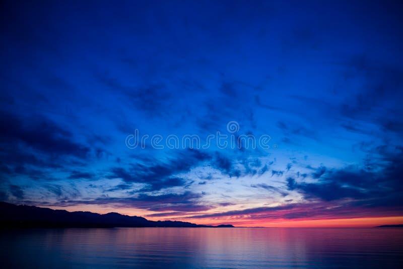 Stretto di Juan de Fuca Sunset immagine stock