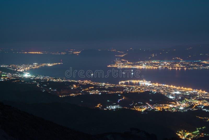 Stretto di paesaggio urbano di Messina fotografia stock