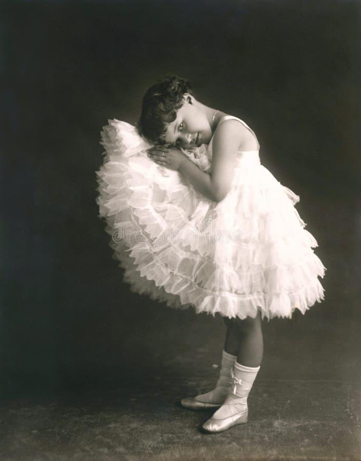 Strevende ballerina royalty-vrije stock foto