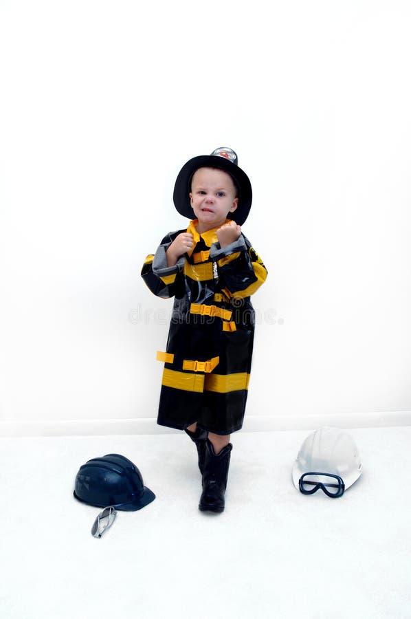 Strevende Brandbestrijder stock foto