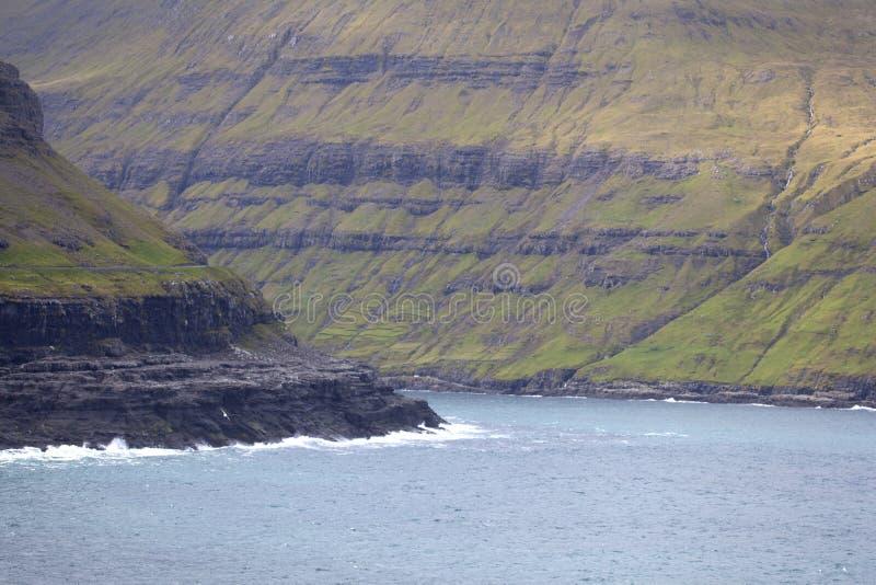 Streymoy, Faroe Islands. View of Streymoy island from Eysturoy, Faroe Islands stock photography