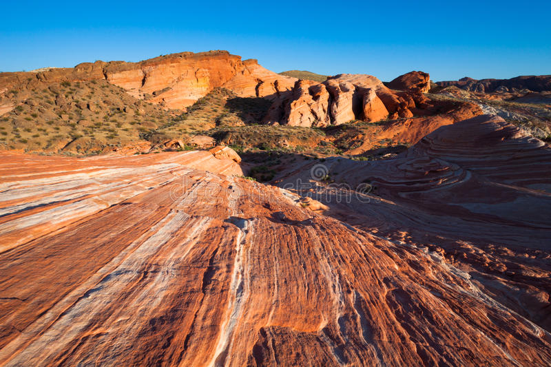 Striated Rocks in Valley of Fire royalty free stock photo