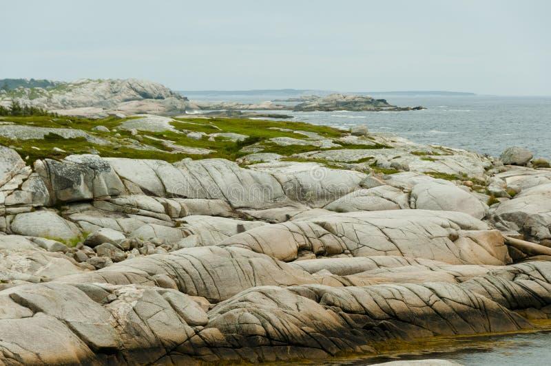 Striatura glaciale del granito fotografia stock libera da diritti