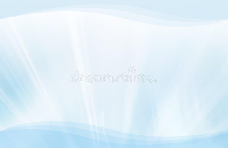 Striature e priorità bassa blu delle onde royalty illustrazione gratis