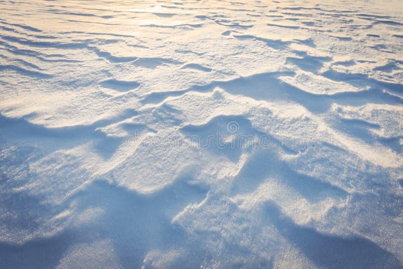 Striature orizzontali su neve fresca immagini stock libere da diritti
