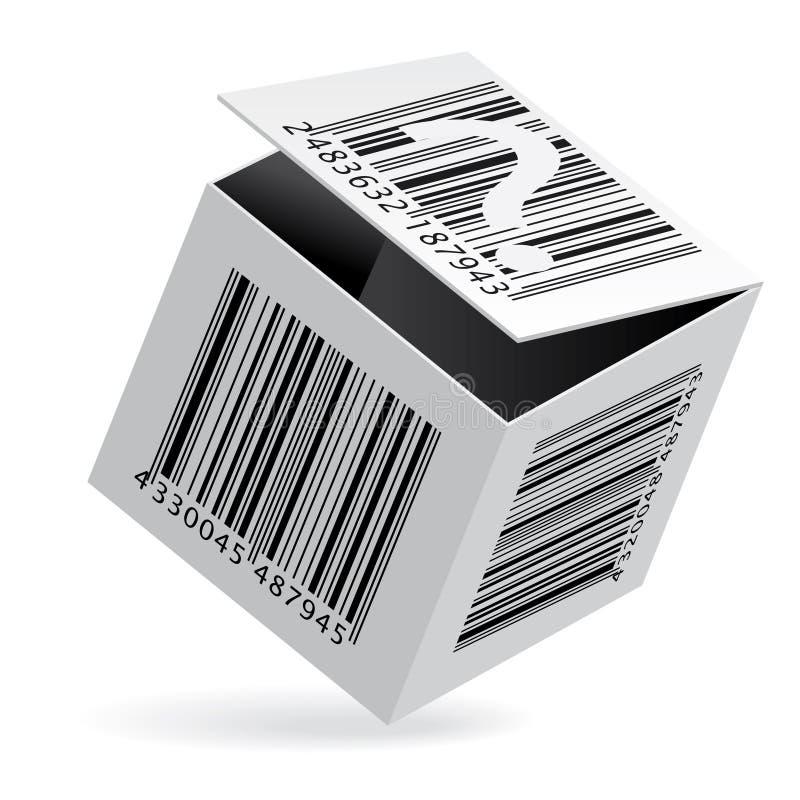 Strichkode auf Kasten lizenzfreie abbildung