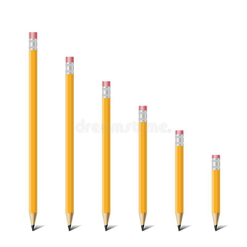 Strichleiter des Bleistifts lizenzfreie abbildung