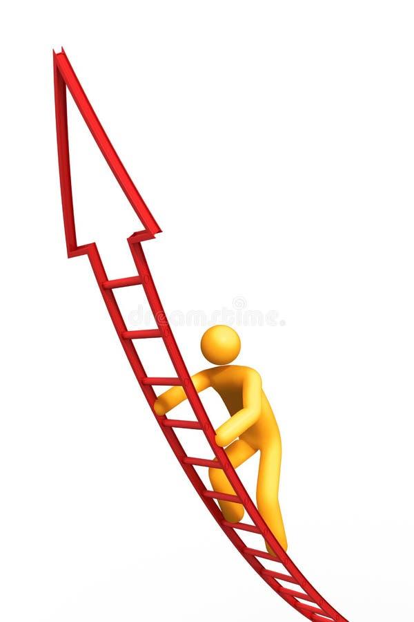 Strichleiter des Erfolgs stock abbildung