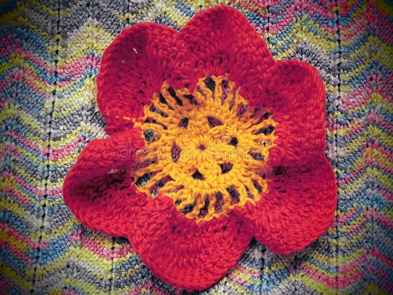 Strickende Blume stockfotos