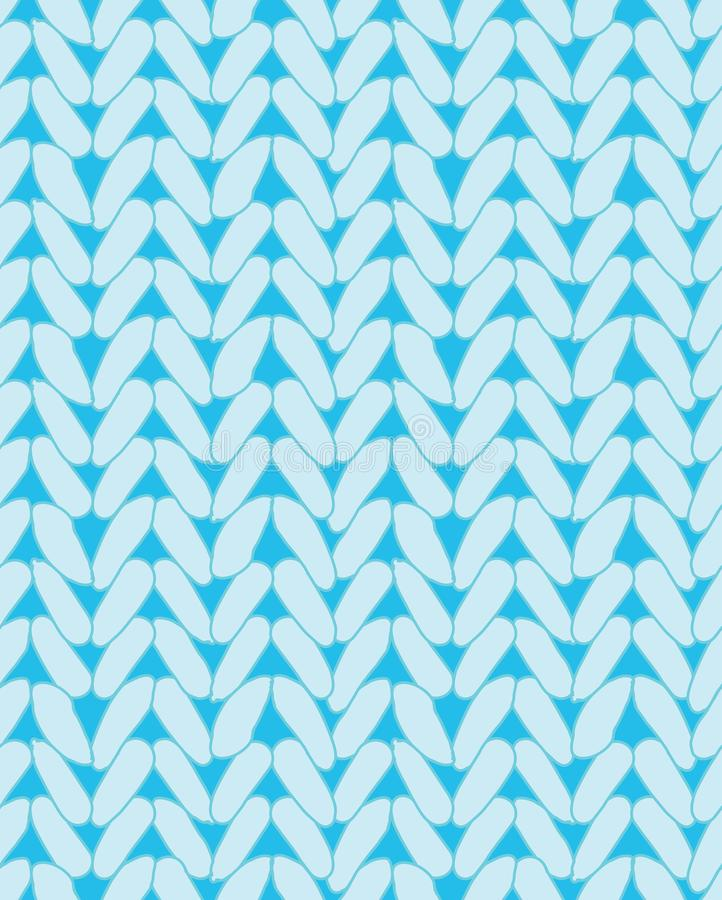 Strickende Strickjackenbeschaffenheit Design für Gewebe lizenzfreie abbildung
