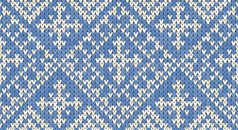 Strickendes geometrisches Muster der klassischen Weinlese Gestrickter realistischer ethnischer nahtloser Hintergrund, Beschaffenh stock abbildung