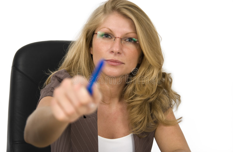Download Strict boss. stock image. Image of table, serious, woman - 4095935