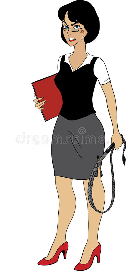 Download Strict Business Lady With Whip Stock Vector - Image: 21115374