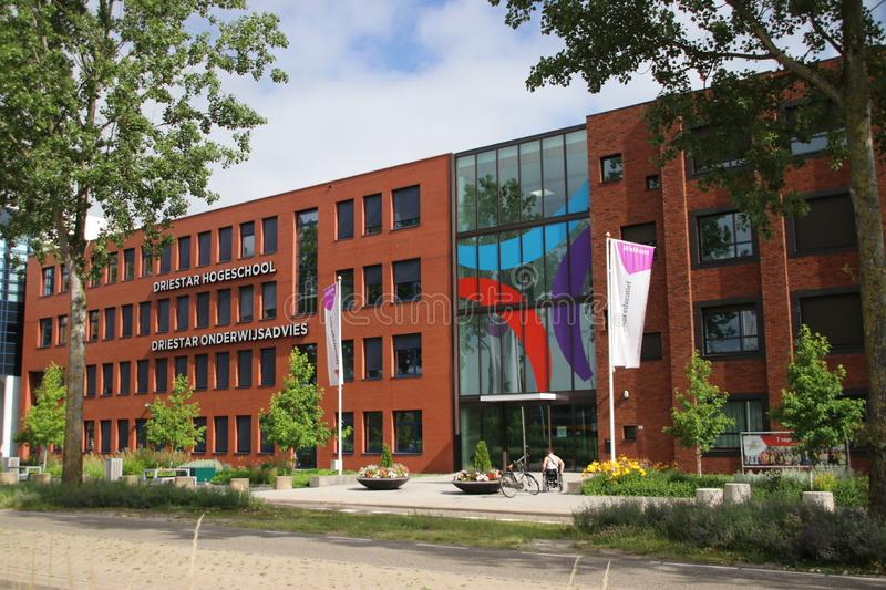 Strict Christian education Driestar College in Gouda where reformed children from the bible belt are student. Strict Christian education Driestar College in stock photo