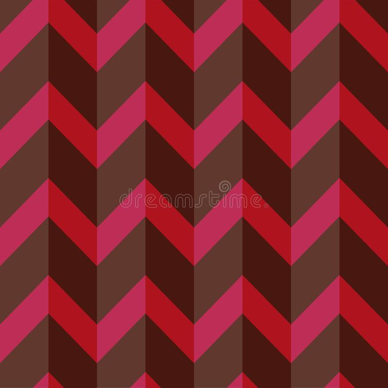 Strict geometric pattern in muted dark colors. Volumetric seamless background. royalty free illustration