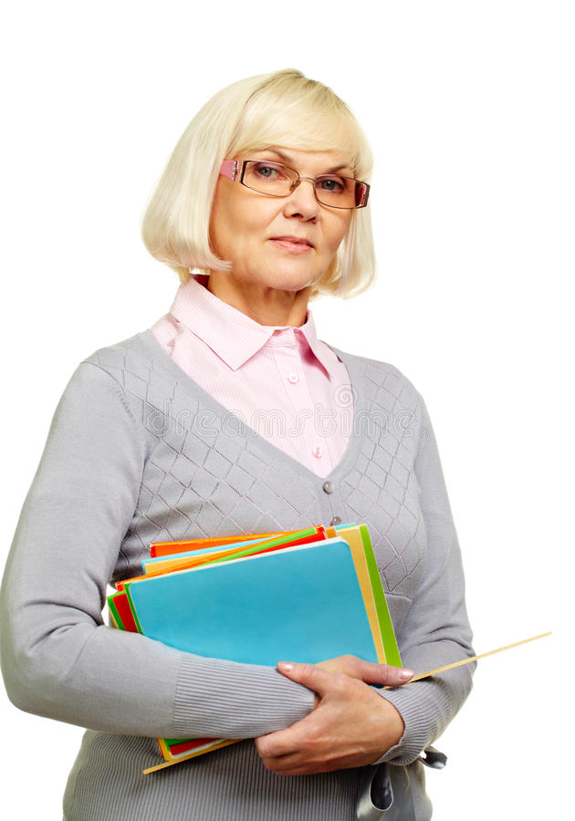 Strict lecturer royalty free stock photo