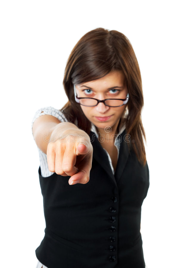 Strict-looking Female Teacher Stock Photos