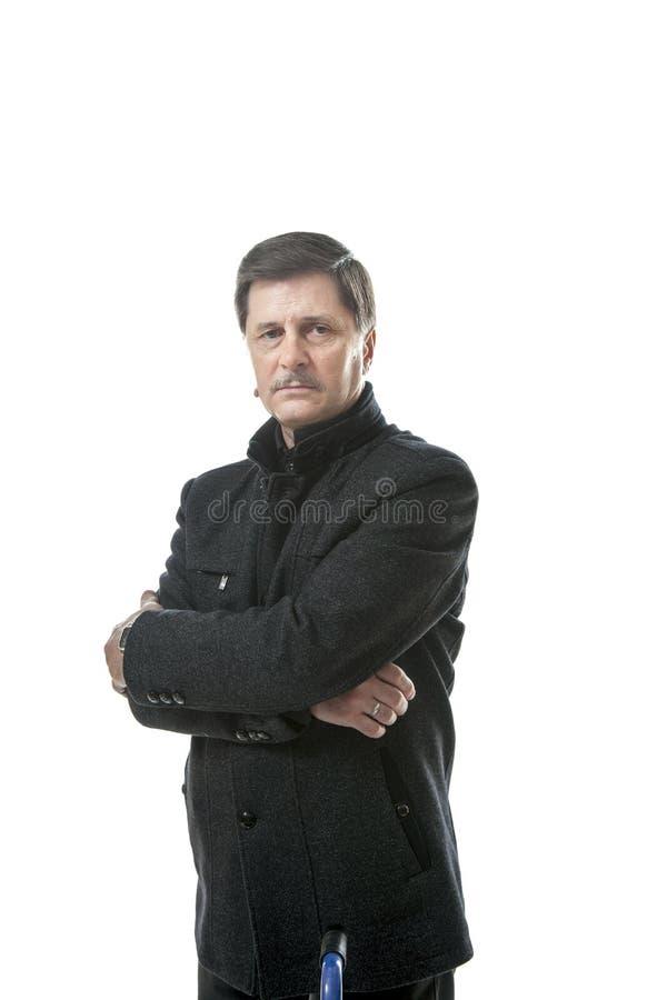 Strict office boss stock photos