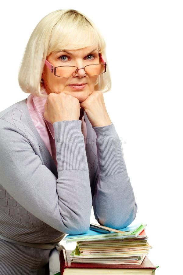 Download Strict teacher stock image. Image of glasses, elder, person - 26268951