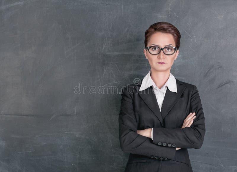 Strict teacher royalty free stock photo