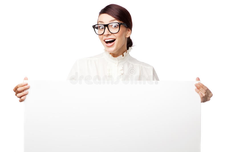 Download Strict Woman In Large Glasses Stock Images - Image: 26524564