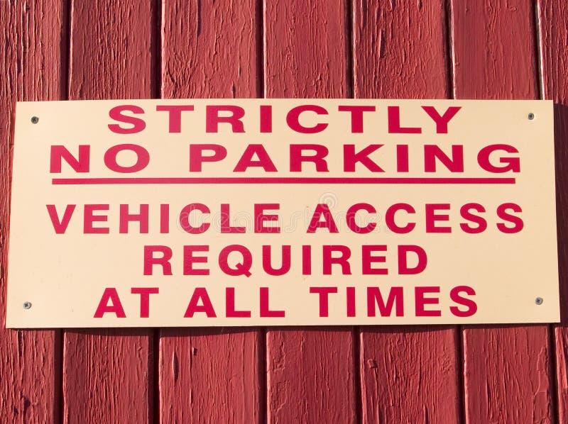 Strictement signe de stationnement interdit photo libre de droits