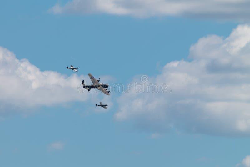 Strid av flyget för Britannien det minnes- flyg BBMF i bildande royaltyfria foton